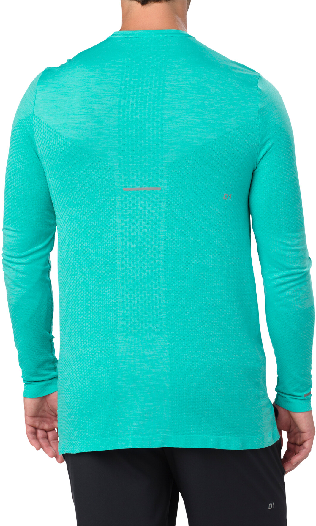 b7be1c566b4 asics Seamless - T-shirt manches longues running Homme - turquoise ...